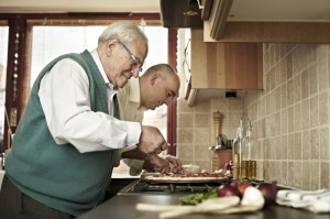 Cosmo & Cosmo Snr at work on another tasty creation!